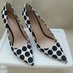 Cute polka dot heels